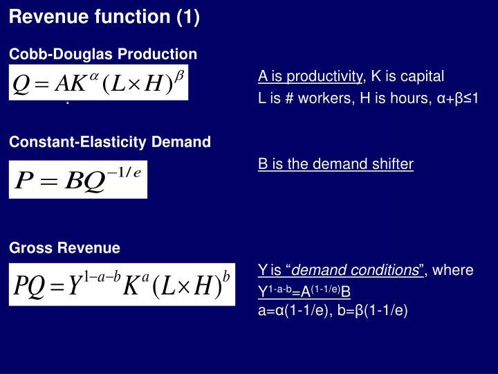 Revenue function (1)
