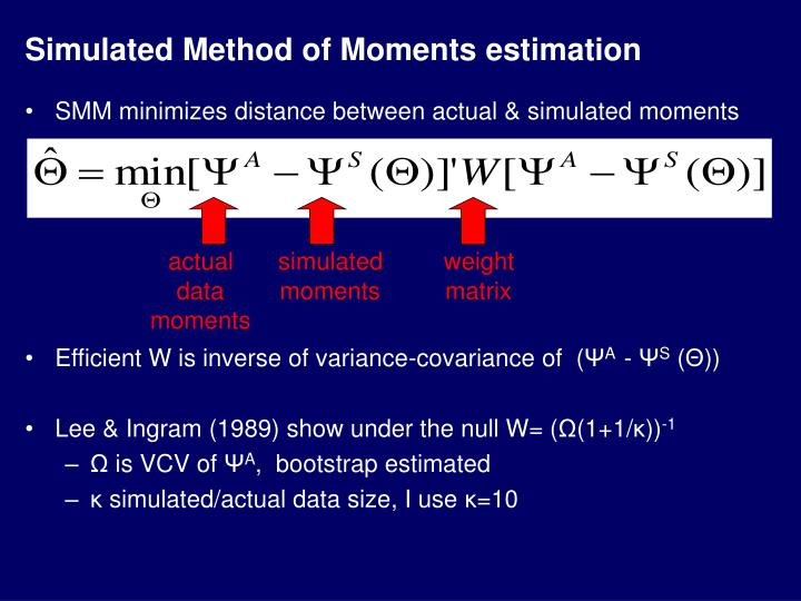Simulated Method of Moments estimation