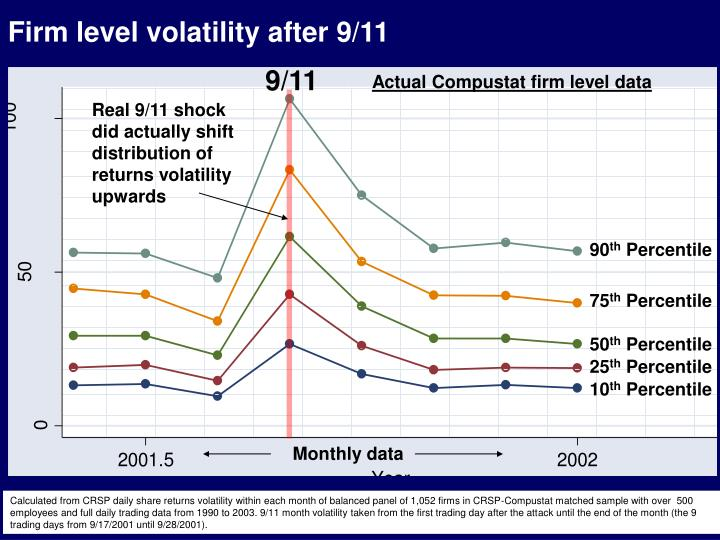 Firm level volatility after 9/11