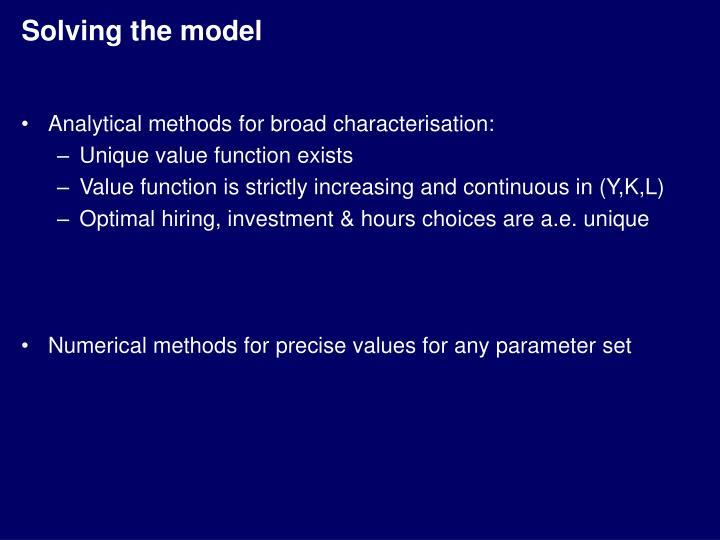 Solving the model