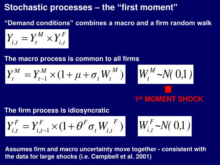 "Stochastic processes – the ""first moment"""