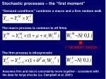 stochastic processes the first moment