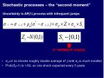 stochastic processes the second moment