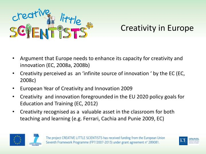Creativity in europe