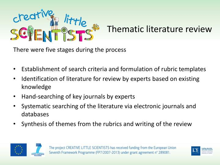 Thematic literature review