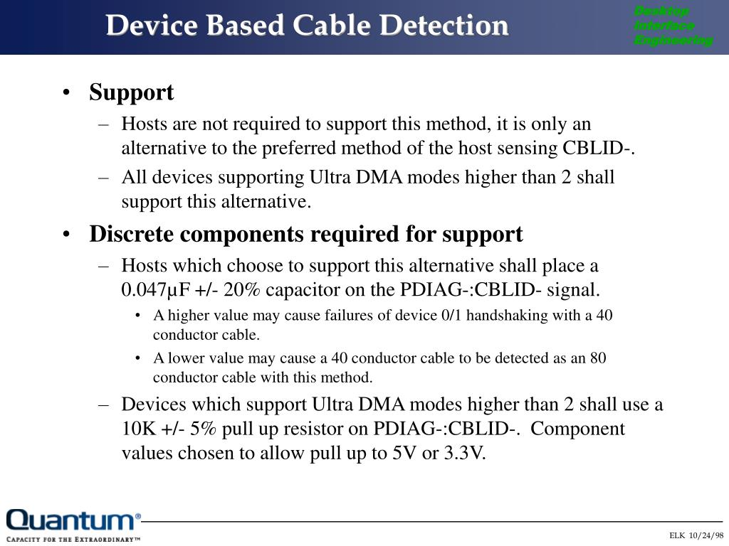 Device Based Cable Detection