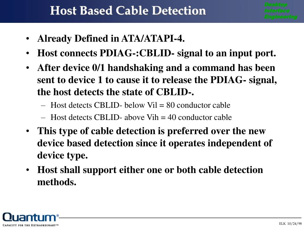 Host Based Cable Detection