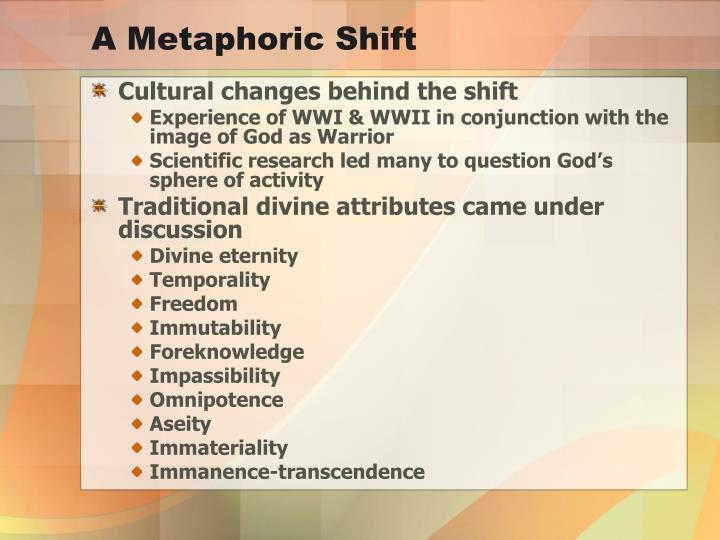 A Metaphoric Shift