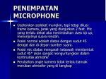 penempatan microphone