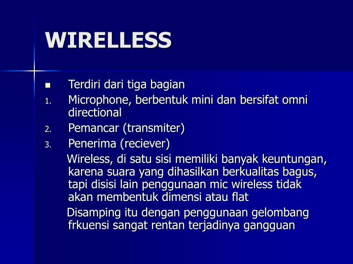 WIRELLESS