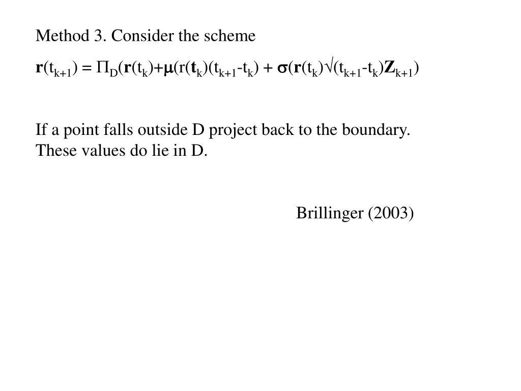 Method 3. Consider the scheme