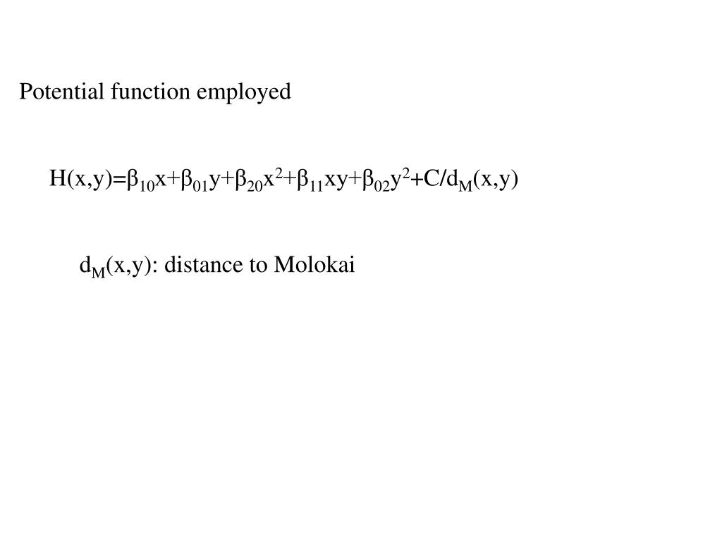 Potential function employed