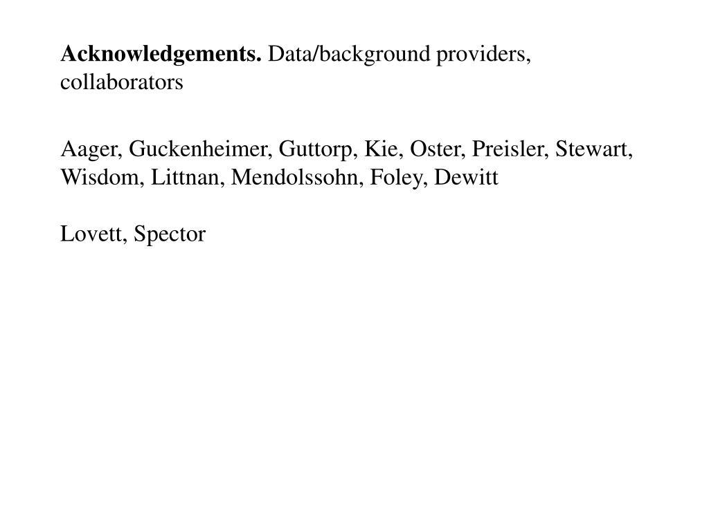 Acknowledgements.