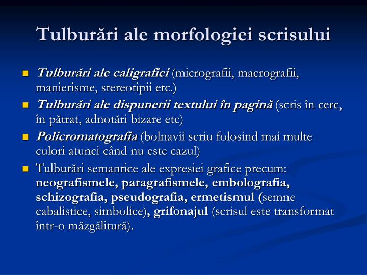 Tulburări ale morfologiei scrisului