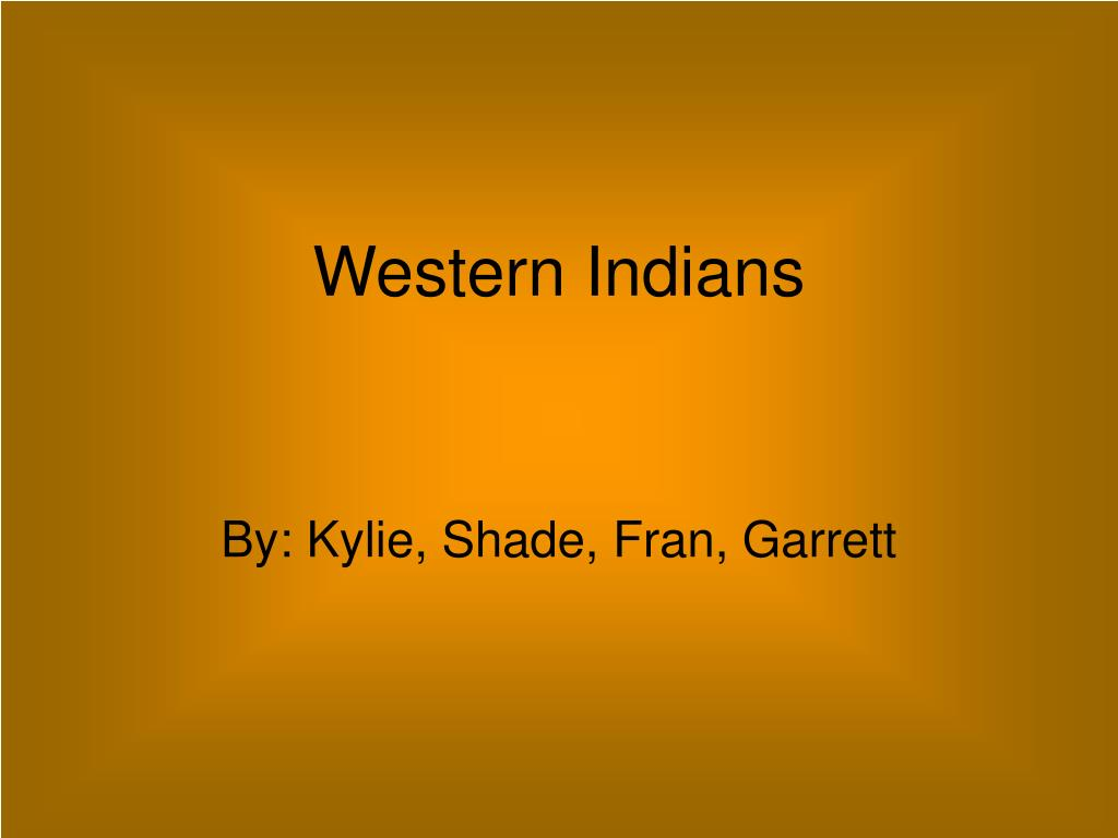 Western Indians