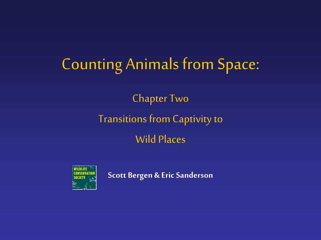 Counting Animals from Space: