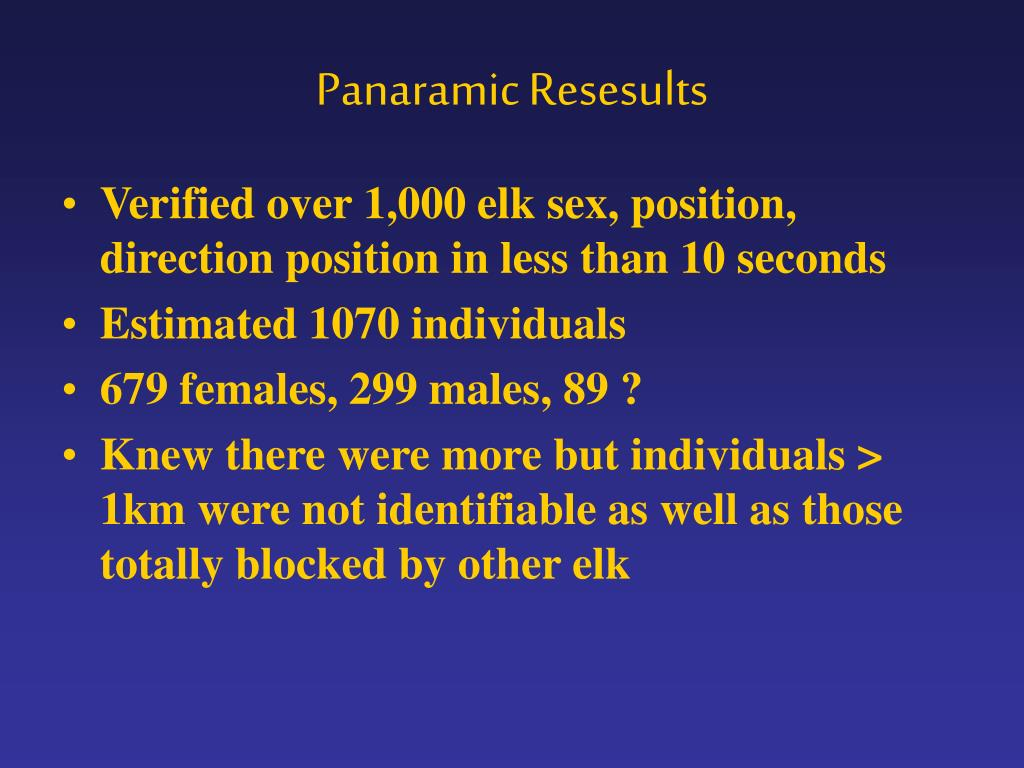Panaramic Resesults