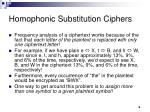 homophonic substitution ciphers