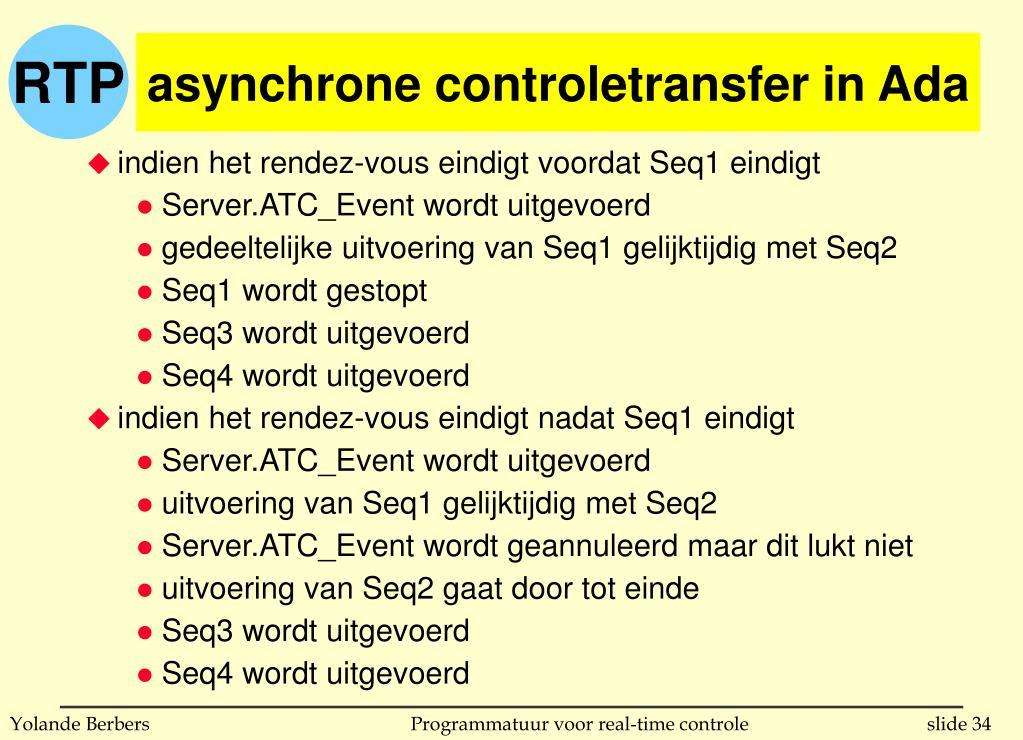 asynchrone controletransfer in Ada