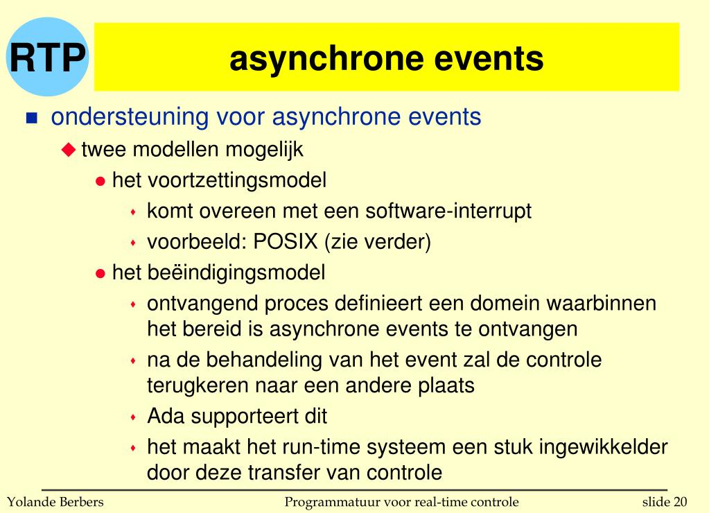 asynchrone events