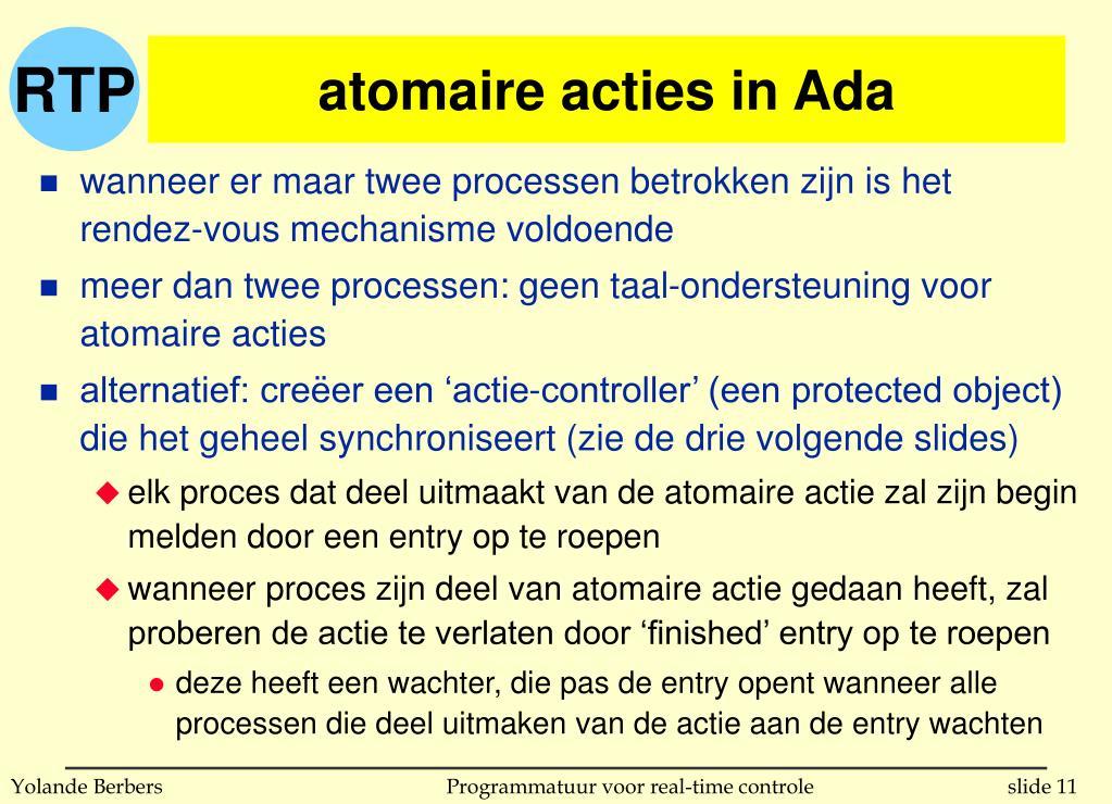 atomaire acties in Ada
