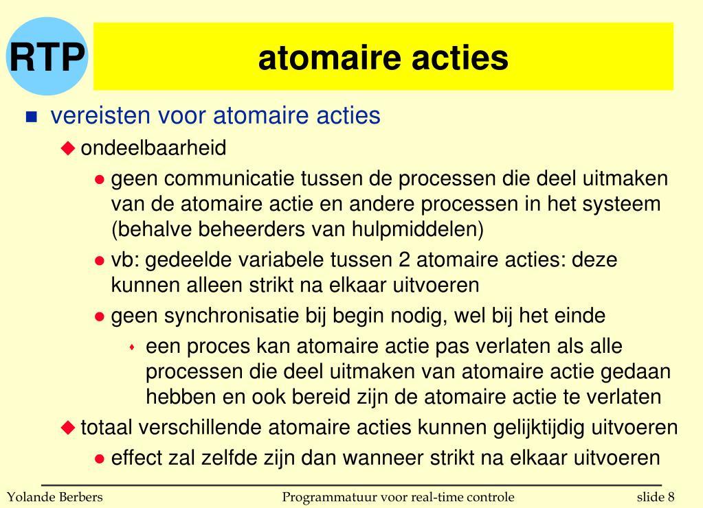 atomaire acties