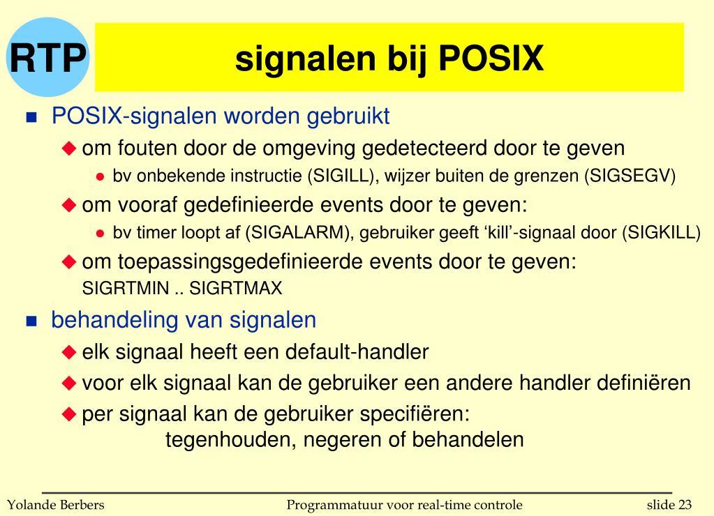 signalen bij POSIX