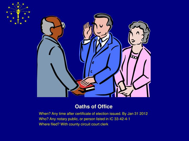 Oaths of Office