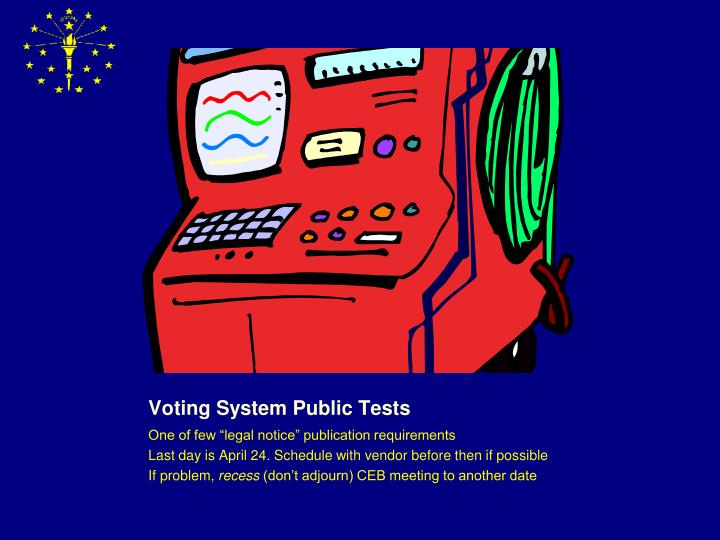 Voting System Public Tests