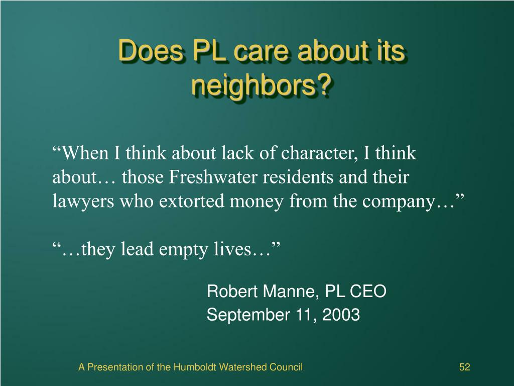 Does PL care about its neighbors?