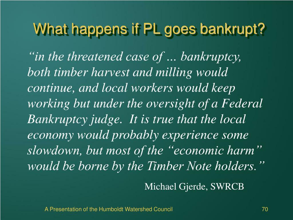 What happens if PL goes bankrupt?