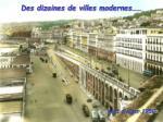 des dizaines de villes modernes