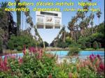 des milliers d coles instituts h pitaux maternit s dispensaires jardin d essai alger