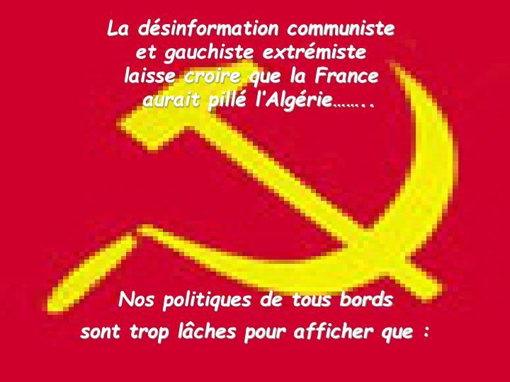 La désinformation communiste