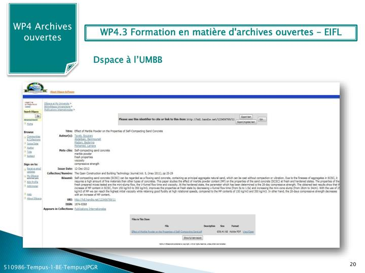 WP4 Archives ouvertes