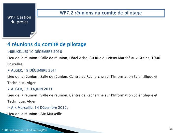 WP7 Gestion du projet