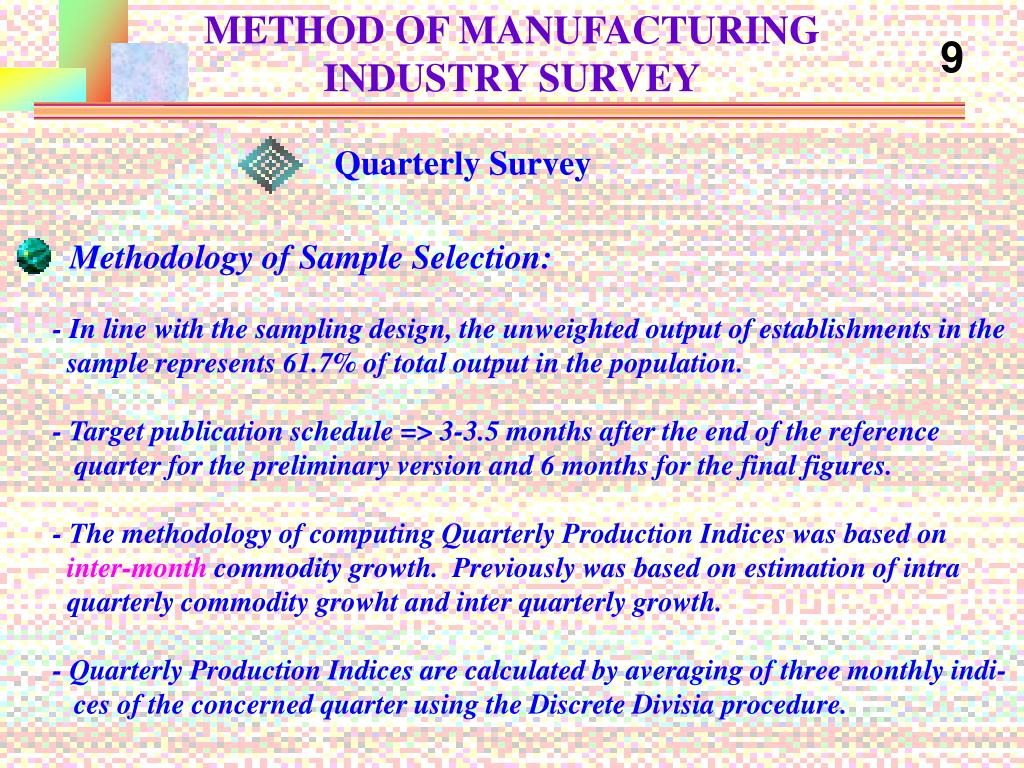 METHOD OF MANUFACTURING