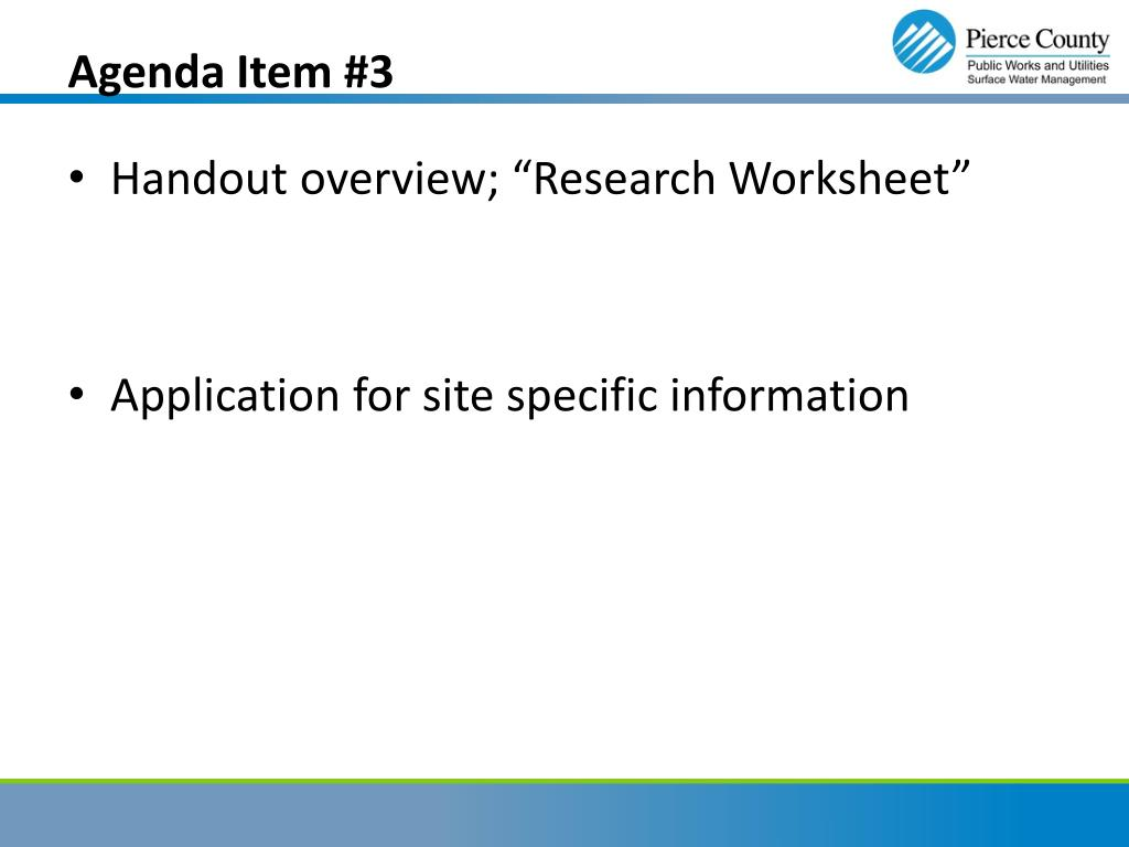 Agenda Item #3