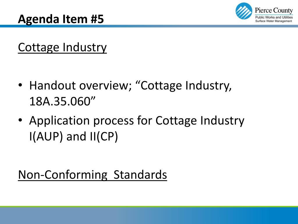 Agenda Item #5