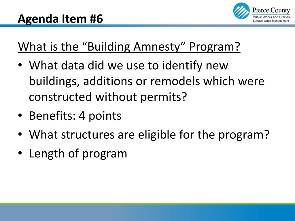 Agenda Item #6