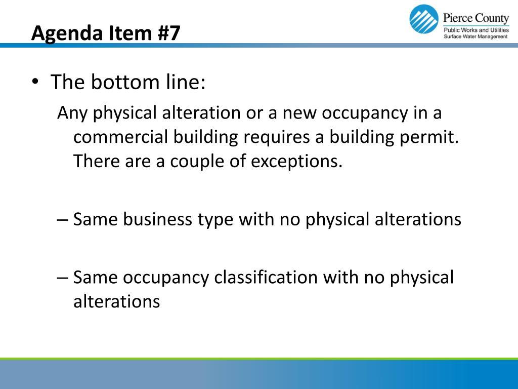 Agenda Item #7
