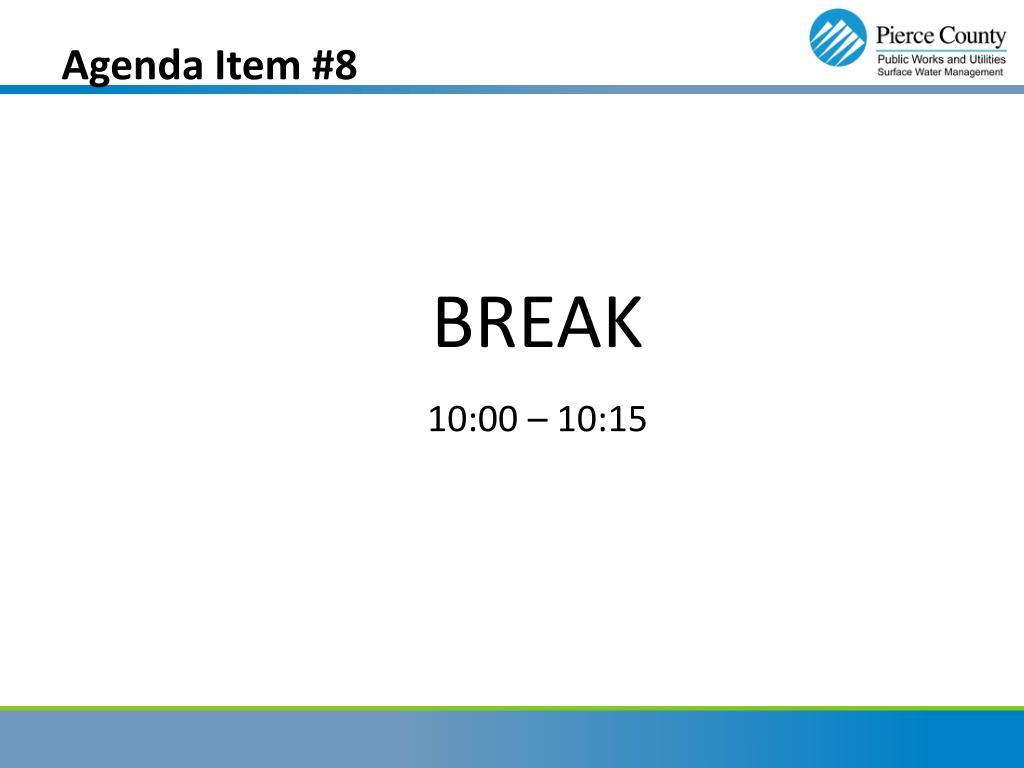 Agenda Item #8