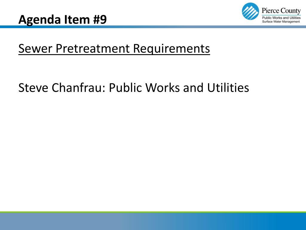 Agenda Item #9