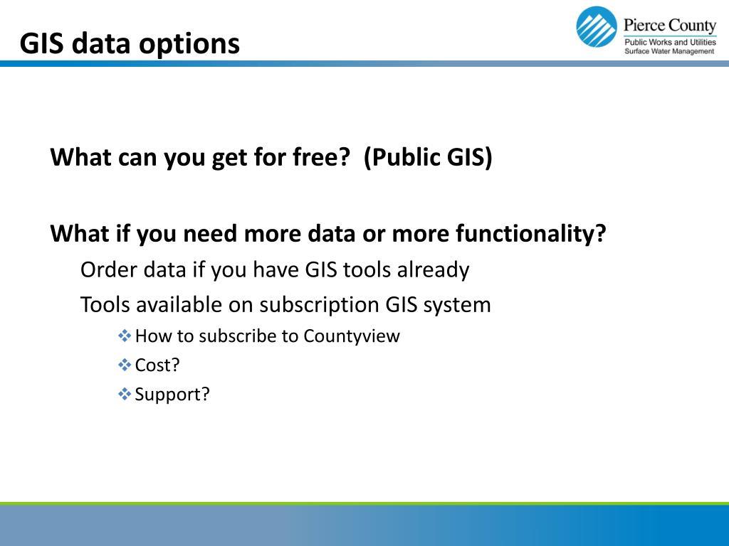 GIS data options