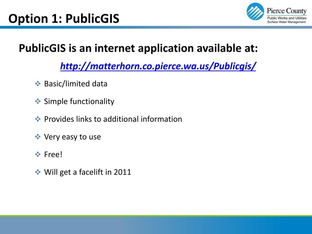 Option 1: PublicGIS