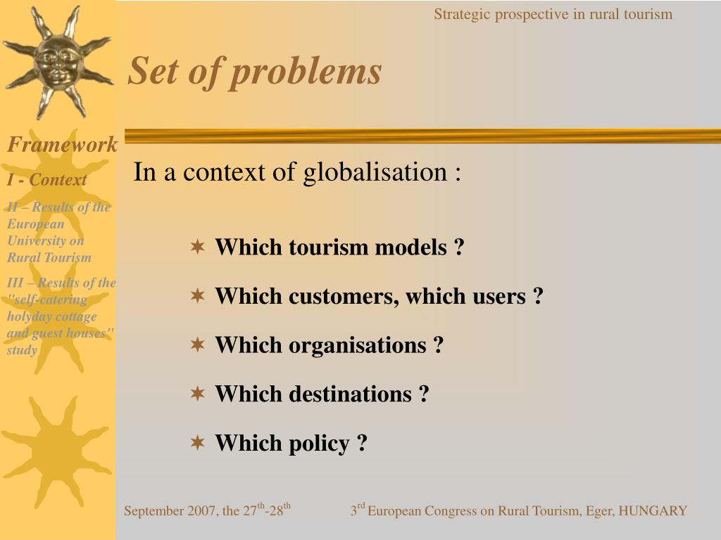 Set of problems