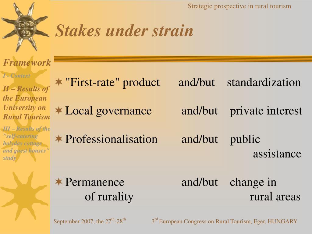 Stakes under strain