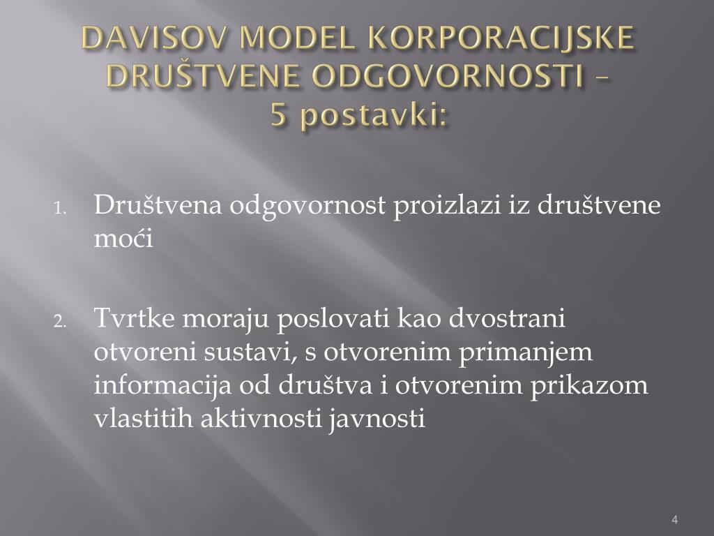 DAVISOV MODEL KORPORACIJSKE