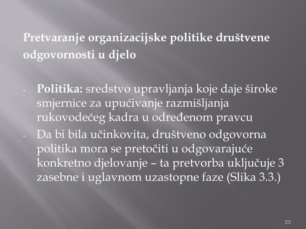 Pretvaranje organizacijske politike društvene