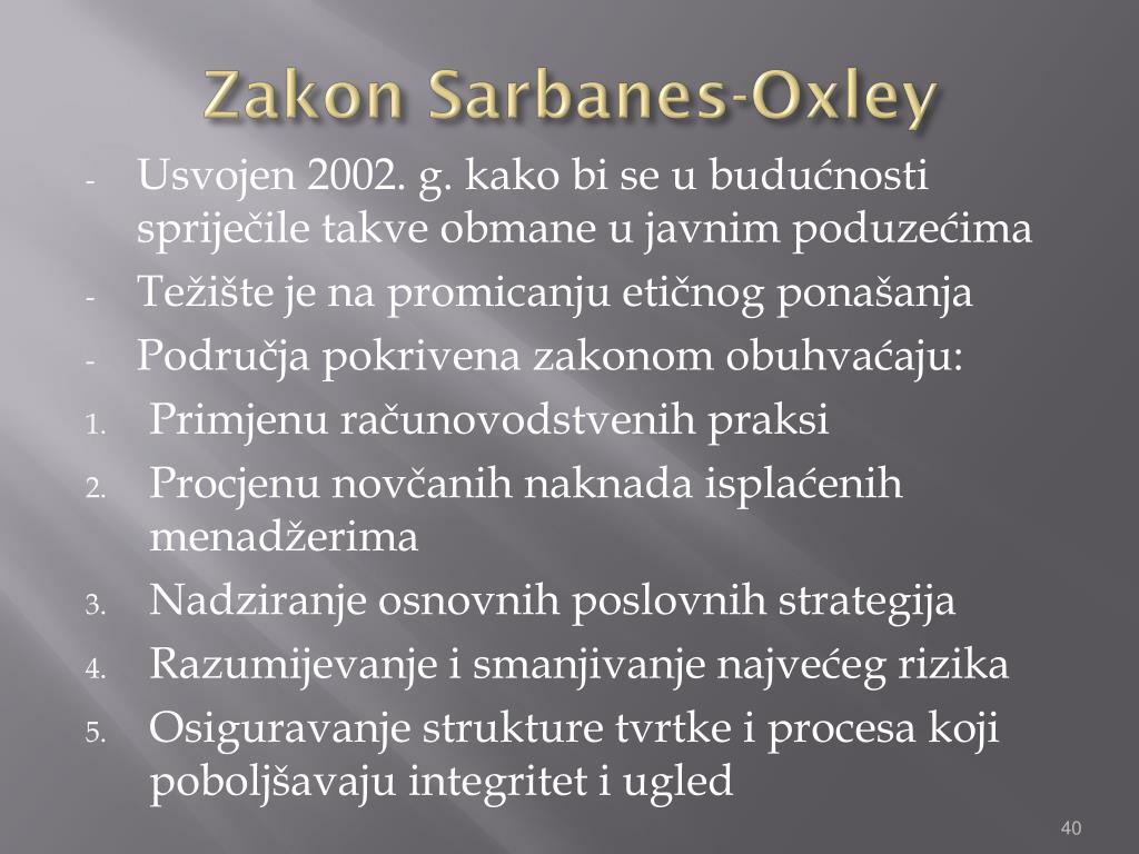 Zakon Sarbanes-Oxley